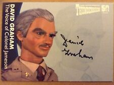 THUNDERBIRDS 50TH ANNIVERSARY: AUTOGRAPH CARD: DAVID GRAHAM AS COLONEL JAMESON