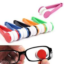 2pcs/Set Eye Care Travel Portable New Microfiber Brush Sunglass Eyeglass Cleaner