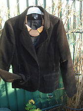 """""""H&M""""  LADIES BROWN LONGER LENGTH CORD LINED JACKET SIZE 16 (44) - HAVE A LOOK"""
