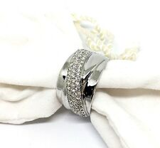 Melania Trump Jewelry Ring Silver tone with Simulated diamonds Beautiful size 11