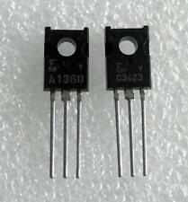 5 Pair NEW  2SA1360-Y & 2SC3423-Y A1360 C3423 Toshiba Audio Transistors New