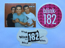 BLINK 182 3-Pack of Stickers Photo/Hearts/Logo NEW OFFICIAL MERCH RRP$16.05