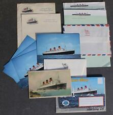 CUNARD WHITE STAR LINE RMS QUEEN MARY UNUSED LETTER PAPER & ENVELOPE COLLECTION