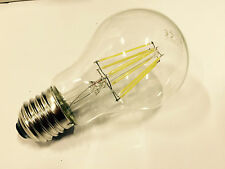 2 PACK OF LED E27 HIGH POWER FILAMENT LAMP 8W A60 6000K DAYLIGHT OUTPUT