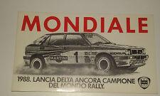 Adesivo Sticker LANCIA DELTA Campione del mondo rally 1988 MONDIALE cm 12 x 7