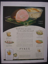 1925 Pyrex Cookware #466 #232 #130 #506 etc Full Page Color VTG Print Ad 11825