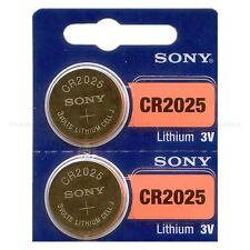 2 NEW SONY CR2025 3V Lithium Coin Battery Expire 2026 FRESHLY NEW - USA Seller