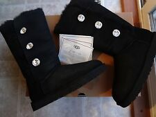 UGG Bailey Button Bling Triplet Tall, Women size 11 black