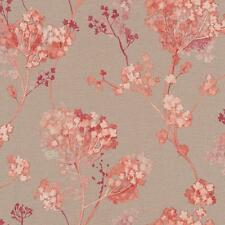 RASCH FLORENTINE FLORAL MOTIF PATTERN TRADITIONAL TEXTURE WALLPAPER TAUPE ORANGE