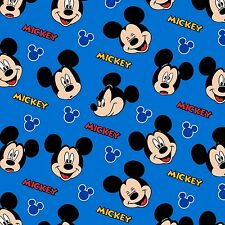 "1 yard Disney Mickey Mouse ""Expressions"" Fabric"