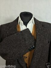 Genuine Harris Tweed Jacket Brown 44 Chest Ex. Condition. Free Delivery P239