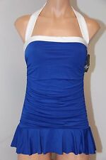 New Ralph Lauren Swimsuit 1 one piece Size 14 attached skirt OCN Slimming fit