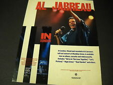 AL JARREAU In London WEMBLEY ARENA is now available 1985 PROMO POSTER AD mint