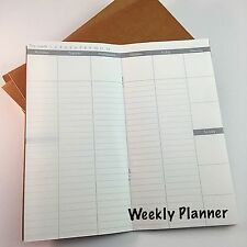 Traveler's Notebook Weekly Planner Refill for Standard Size Midori 32 Sheets