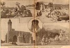 IMAGE 1917 PRINT JERUSALEM PUITS DES MAGES JERICHO CAMP NEBI SAMOUIL MOSQUE