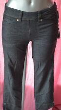 pantacourt femme gris imitation jeans HIGH USE taille 34 NEUF AVEC ETIQUETTES