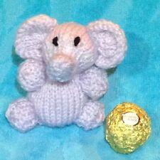 MODELLO PER LAVORO A MAGLIA - Elefante cioccolato incartamento Ferrero Rocher