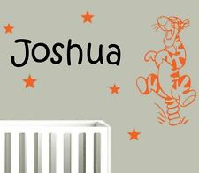 Bouncing Tigger with Any Name Wall Stickers. Custom made stickers Pooh Tiger