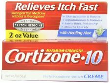 4 Pack - Cortizone-10 Maximum Strength Anti-Itch Creme with Aloe 2 oz Each
