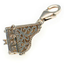 Grand Piano Filligree Sterling 925 Silver Lobster Clip Charm by Welded Bliss