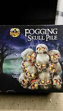 Spirit Halloween Fogging Skull Pile Prop Yard Decor Skulls, Garden, lighting New