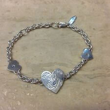 Sterling Silver Me To You Teddy Bear With Love Bracelet.