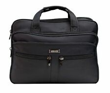 "15.6"" Black Laptop Briefcase Messenger Bag with Shoulder Strap & Carry Handles,"
