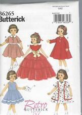 BUTTERICK SEWING PATTERN 18 INCH DOLL CLOTHES DRESS JACKET PETTICOAT TOP  6265
