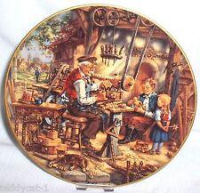 Fleißige Handwerker im Dorf ~ 5. Weimar Bradex Sammelteller = Beim DRECHSLER