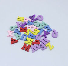 """120psc new Mixed Colors Alphabet """"A-Z"""" Shape Wood Sewing Scrapbooking I0018"""