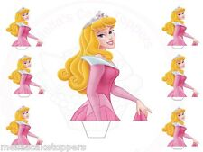 Large Princess Aurora Stand Ups  +Small Cake&Cupcake Fairy Toppers Edible Wafer