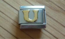 Italian Charms Charm - Gold Letters   Letter U