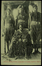 1905 Overami Ex King Of Benin Being Taken To Calabar Nigeria RP Postcard