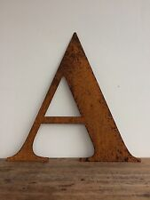 Large 40cm Letter A  Rusty Rusted Metal Industrial Sign Decoration Ornament