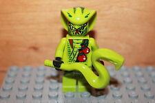 Lego Ninjago - Ninja Lasha Figur Schlange grün mit Schlangen Stab aus Set 9562