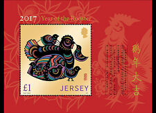 Jersey - Postfris/MNH - Sheet Year of the Rooster 2017 NEW!