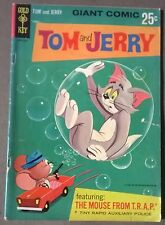 TOM AND JERRY AND THE MOUSE FROM T.R.A.P. #1 (1966) Gold Key Giant Comic VG+
