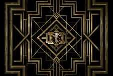 7x5FT Dark Great Gatsby Custom Your Own Initials Photo Background Backdrop Vinyl