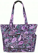 "Ricardo Beverly Hills Mar Vista 18"" Shopper Tote Bag Carry On - Purple Paisley"