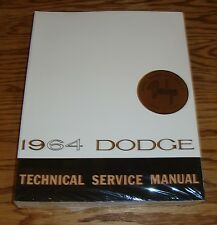 1964 Dodge Dart 170 270 GT Polara 330 440 Technical Service Shop Manual 64