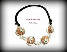 Wealth Bracelet / 7 + 9 +11 +13 Mukhi Rudraksha Of Java In Silver Bracelet