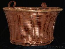 Large Plastic Woven Wicker Basket / Imitation Brown Wicker Basket NEW!