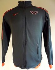 NIKE Track JACKET Small MENS Virginia TECH Hokies Sz S Gray FULL Zip MAN Fit DRY