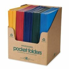 "Roaring Spring 50200 Two Pocket Folders, 11-3/4x9-1/2"", 100/CT, Assorted"