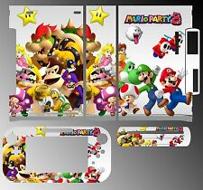 Skin Sticker Cover for Nintendo Wii U Console & Controller 216 Super Mario Party