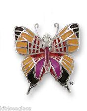 Zarah Zarlite Daggerwing BUTTERFLY CHARM Silver Plated & Enamel w/ Jump Ring