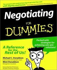 Negotiating for Dummies by Mimi Donaldson and Michael Donaldson (1996, Pbk)