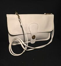 Vintage 70s Coach Bonnie Cashin Pre-Creed Double-Sided Twin Clutch, 9380, White