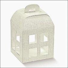 10 Scatole Confezione Regalo Lanterna Bomboniera Matrimonio 8x8x10.5 cm