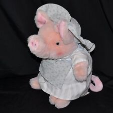 VTG Eden Beatrix Potter The Tale Of Pigling Bland Aunt Pettitoes Plush Pig Tags